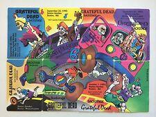 Grateful Dead Backstage Pass PUZZLE SET September 1992 -8 show passes Hippie Bus
