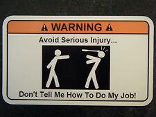 Avoid injury Tool Box Warning Sticker - Gold - Sna Funny!!! mac