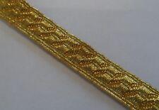 """Gold Mylar B&S Lace, Bias, 3/8"""", 8mm, Army, Braid, Military, Uniform, Braid"""