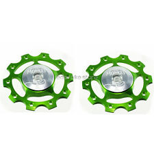2PC Circus Monkey Wheel for Rear Derailleur Pulley 10T  ROAD MTB BIKE - GREEN
