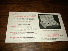 Late 1890's Advertising Paper Serrated Soluble Sheets Vintage RARE SCARCE NICE