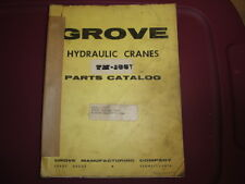 GROVE TM155T Crane Illustrated PARTS Manual with FWD Parts Book   09/1968