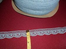 "1"" scalloped flat country blue lace (10 yards) .25 a YARD"