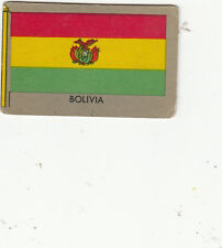 """1950 TOPPS VINTAGE """"FLAGS OF THE WORLD"""" CARD #2 BOLIVIA"""