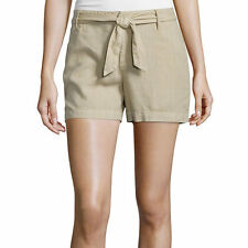 a.n.a Tape Belted Twill Shorts Size 6, 8, 12 New Msrp $36.00 Khaki