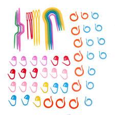 Tejer Ganchos de ganchillo Aguja Pin Stitch Marcadores Pañal de bloqueo establecido