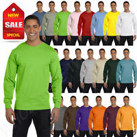 NEW Hanes 6.1 oz 100% Cotton Long-Sleeve Beefy-T S-XL T-Shirt R-5186