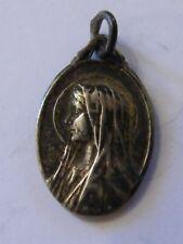 Médaille Pendentif Notre Marie Soubirou Lourdes Argent Plaqué Silver Silber
