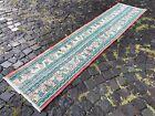 Patchwork, Runner rug, Turkish, Vintage, Handmade, Wool, Carpet | 1,8 x 8,1 ft