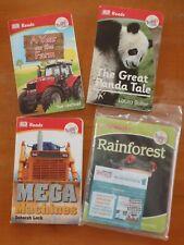 McDonalds Happy Meal books x 4- DK Reads Rainforest/Panda