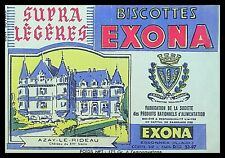 Buvard Publicitaire, Biscottes EXONA, Essonnes