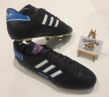 Adidas FX 200 Black Leather Football Boots UK 9 'FX SYSTEM VINTAGE RARE 1980's'