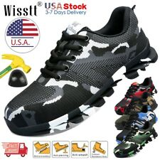 New listing Men's Work Safety Shoes Steel Toe Boots Indestructible Sneakers Hiker Camouflage