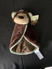 """New listing Animal Adventures Monkey Security Blanket Lovey Small Circular 9"""" Long New"""