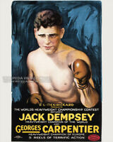 Vintage 1921 Boxing Poster - JACK DEMPSEY Heavyweight Championship Fight - 8x10