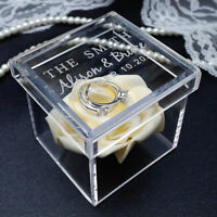 Clear Acrylic Ring Box Personalised Wedding Ring Box Custom Wedding Ring Box