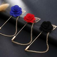 ROSE PIN / Handmade Flower Brooch Boutonnière Suit Lapel Wedding Pin - UK Seller