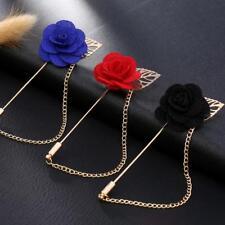 Rose Pin Handmade Flower Brooch Boutonnière Suit Lapel Wedding Uk Er