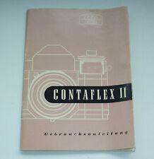 Zeiss Ikon Contaflex II Kamera Bedienungsanleitung Owners Manual Anleitung