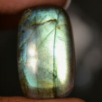 Cts. 31.00 Natural Blue Fire Gorgeous Labradorite Cabochon Baguette Cab Gemstone