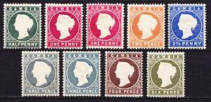 Gambia 1886-93 QV short set to 6d, fine mint cv £175+