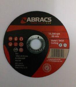 Abracs Thin Cutting Discs - 115mm x 1mm - Pack of 100
