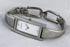 Elegante reloj señora M-watch Mondaine swiss made broches tipo acero brillo Pulido