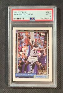 SHAQUILLE O'NEAL 1992 Topps #362 RC PSA 9 MINT HOF Rookie Orlando Magic