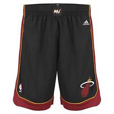 Mens Adidas NBA Miami Heat Swingman Basketball Shorts in Black XL