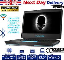 "Alienware 13 13.3"" Gaming Laptop Intel i7 5th Gen 2.40Ghz 16GB RAM 240GB SSD W10"