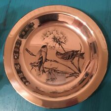 Franklin Mint - The Gold Finch - National Audubon Society etched sterling plate