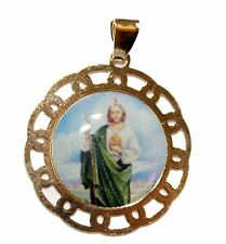 St. Jude Thaddeus Pendant -  San Judas Tadeo 18K Gold Plated with 20 inch Chain