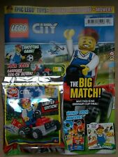 NEW THE LEGO CITY SPECIAL LIMITED EDN MAGAZINE EDS 13, MINIFIGURE MITB BIG MATCH