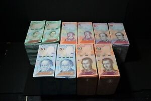 2018 Venezuela $2 $5 $10 $20 $50 Bolivares UNC 10 Bricks 10,000 Pcs New SKU312