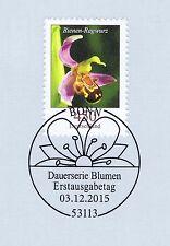 BRD 2015: Bienen-Ragwurz Nr. 3191 mit dem Bonner Ersttagssonderstempel! 1A 1604