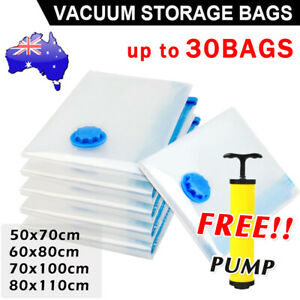 Vacuum Space Saver Bags Storage Seal Compressing Organizer for Clothes Quilt
