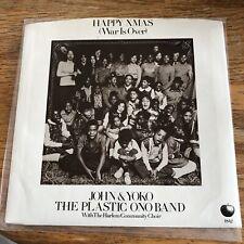 John Lennon Happy Xmas Apple 1842 W/ PS! Rare Faces Label Green Vinyl Beatles