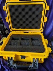 Invicta Dive Watch Waterproof Plastic Box Case 3 Slots Yellow