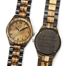 Wooden Watch Custom Engraved Personalized Wood Watch USA Gift Groomsman Quartz