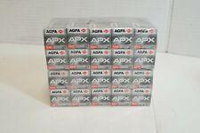 (S) AGFA APX 100 ISO 120 Black & White Print Film 20 Rolls - Expired