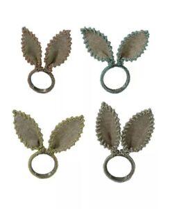 Servilleteros Hecho a mano del Rhinestone del metal de la servilleta Servilletero Hotel Button toalla anillo de bodas partido de la familia de banquetes Anillo de servilleta Conjunto de 9 Decoraci/ón d