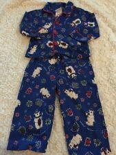 Circo Boys Blue Red Polar Bear Snowflakes Pajamas Pants Long Sleeve 12 Months