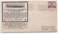 "1934 US Cover w/  Cachet "" 1st Anniversary Airship Akron Crash "" Barnegat NJ"
