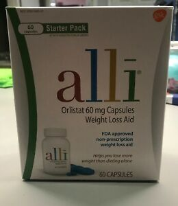 alli Weight Loss Aid Diet Pills 60mg Capsules Starter Pack 60 Count, Exp 07/2022