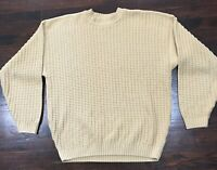 Tommy Bahama Oversize Open Knit Ribbed Sweater Women's Size M Stretch Crew Neck