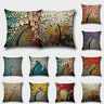 Floral Cotton Linen Pillow Case Cushion Cover Home Sofa Waist Throw Decoration