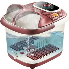 Spa Bath Foot Infrared Massager Roller Heat Vibration Bubbles Water Pedicure New
