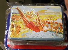 Bathing Beauties high diving swim pinup tin lunch box or purse never used