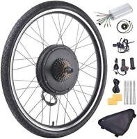 "26"" Electric Bicycle Rear Wheel 48V 1000W Ebike Hub Motor Conversion Kit"