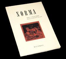 Norma livret seul Romani opéra Bellini 1965